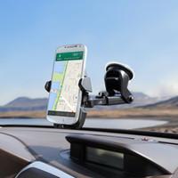 einstellbarer gpshalter großhandel-Universal Mobile Autotelefonhalter 360 Grad Einstellbare Fenster Windschutzscheibe Armaturenbrett Halter Stehen Für Alle Handy GPS Halter