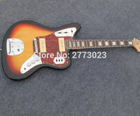 Wholesale Electric Guitar Jaguar Sunburst - In Stock - Jazzmaster deluxe Jaguar electric guitar, S-S P90 pickups, Import Tremolo, Locking tuner, Olive Finish