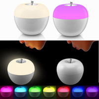 Wholesale Toy Atmosphere - Blowing control Dimmable Apple LED night lights 8 color changing atmosphere Lamp for bedroom Child gift toy table lamps