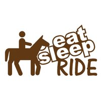 Wholesale Happy Stickers - Wholesale 10pcs lot Eat Sleep Ride Horse Tourist Travel Happy Holidays Car Sticker for Window Bumper Laptop Kayak Motorcycle Vinyl Decal