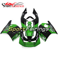 Wholesale 93 Kawasaki Ninja Fairings - Black Green Fairings For Kawasaki ZXR250 91 92 93 94 95 96 97 ABS Plastic Injection Motorcycle Full Fairing Kit Cowlings Body Frames