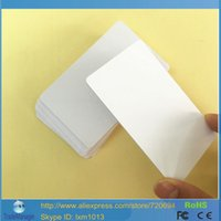 Wholesale Rfid Printed Cards - Wholesale- 200PCS 13.56MHZ RFID S50 Smart Chip IC Printable Inkjet Blank PVC Card For Inkjet Printer printing