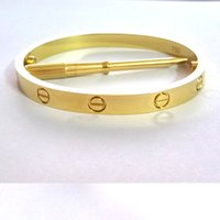 Wholesale Gold Claw Clasp - Titanium Steel Love Bracelets for women rose gold silver gold Screwdriver Bangles men charm screw bracelet Couple Jewelry with original bag