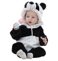 ingrosso rompers bordeaux-Primavera Autunno Vestiti del bambino Flanella Baby Boys Vestiti Cartoon Animal Tute Infant Girl Pagliaccetti Abbigliamento per bambini