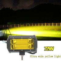 Wholesale Led Offroad Light New - New 5 Inch 72W Illuminate wide LED Work Yellow Light Driving Lamp Jeep Truck Boat Offroad