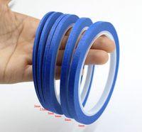 Wholesale Apparel Tape - Wholesale- 2016 Blue Crepe Paper Fine Line Masking Tape Good For Finger Nail Polish Painting Decoration Apparel Design Labeled Line