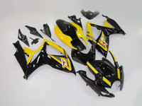 Wholesale gsxr abs motorcycle fairing for sale - Group buy Motorcycle Fairing kit for SUZUKI GSXR600 GSXR K6 GSXR ABS Yellow black Fairings set MN19