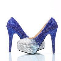 Prata Royal Cinderella Shoes Crystal Beaded Prom Evening Saltos altos Gems Rhinestones Bridal dama de honra Wedding Shoes 5 8 11 14cm Heels 013