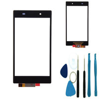 xperia bildschirmersatz großhandel-Touchscreen Digitizer Ersatzteil Glaslinse für Sony Xperia Z1 L39h WERKZEUGE