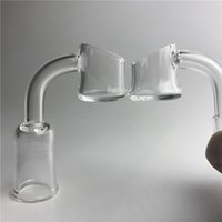 Cuarzo de agua Baratos-New Quartz Evan Shore Banger con 10mm 14mm Male Female Thick Honey Bucket Domeless Quartz Clavo Evanshore Banger para tuberías de agua