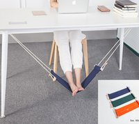 Wholesale Portable Study Table - Office Foot Hammock Portable Mini Feet Rest Stand Desk Footrest Hamac Hangmat Study Table Hang Leisure Hanging Chair 2017 New Fashion