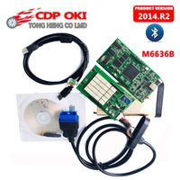 Wholesale M6636b Oki Chip - Wholesale- DHL Free TCS CDP With OKI Chip (M6636B OKI Chip) Bluetooth TCS CDP Pro Plus 2014.R2 with keygen New VCI cdp 3in1