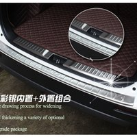 Wholesale Rear Steel Bumpers - Car-Styling For Suzuki Vitara 2015 2016 Stainless Steel Inner Rear Bumper Protector Sill Car Accessories Trunk Car Accessories