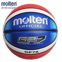 ingrosso borse da regalo di basket-Attrezzatura standard dell'interno di cuoio di pallacanestro della palla di pallacanestro fusa dell'unità di elaborazione standard Size7 di Brown con il regalo del Pin della palla + borsa netta