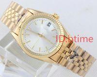 beobachten fälle männer großhandel-Neue Herrenmode Uhren SS Golden Face Case Herren Automatikwerk Luxusuhr Mechanische Designer Herrenuhren Armbanduhren btime