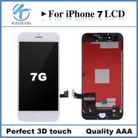 Wholesale test digitizer - 100% Tested A++++ Replacement LCD For iPhone 7 LCD with Digitizer Assembly with 3D Touch Screen Free Shipping