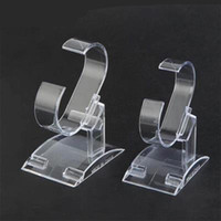 Wholesale Display Watch Holder Acrylic - 2 PCS Clear Acrylic Watch Display Holder Bracelet display rack Watch rack hyaline