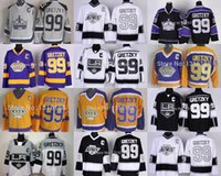 Wholesale Cheap Sport Jerseys Authentic - Mens 2016 Wholesale Authentic #99 Wayne Gretzky stittched Los Angeles Kings sports jersey shirt la kings vintage ice hockey jersey cheap
