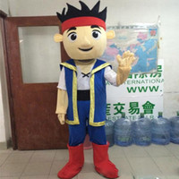 Wholesale Jake Costume Character - 2018 hot sale Custuom made Jake Mascot Costume Adult cartoon Character Costume Jake and the Neverland fancy dress