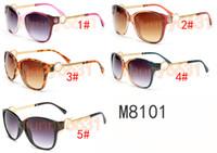 marcas gafas de sol niñas al por mayor-VERANO Mujeres gafas de metal de lujo para adultos gafas de sol señoras diseñador de la marca de moda Negro Gafas niñas conducir gafas de sol A ++ envío gratis