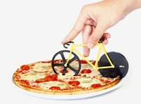 Wholesale High Quality Pizza Cutter - High Quality Bicycle Pizza Cutter Dual Stainless Steel Bike Pizza Knife Wholesale
