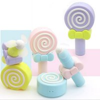 Wholesale Child Fan Handheld Mini Lollipop USB Cooling Electric Fan Air Conditioning For Baby Children With Retail Box
