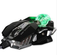 Wholesale Optical Chip - Gaming Mouse Mechanical 8 Button Wired Game Mouse Gamer A5050 Chip Macros Programming Optical Computer Mouse for Laptop PC