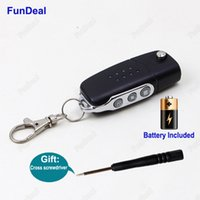 Wholesale Face Wireless Remote - Wholesale- Brand New 433MHz 3Ch Universal Wireless Auto Copy Code Face to Face RF Garage Door Key Remote Control Duplicator Transmitter DIY