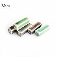 pérola de cristal de polímero venda por atacado-Grânulos de BoYuTe Atacado 30 Pcs 8 * 28 * 2.3 MM Porcelana Praça De Cerâmica Contas Fazer Jóias Moda Beads Jóias Acessórios
