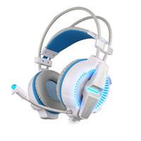 pc gaming headset surround sound großhandel-KOTION JEDER G7000 7.1 USB Surround Sound Gaming Kopfhörer Mikrofon Stereo Headset Verbesserte Bass LED-Licht für Computer PC