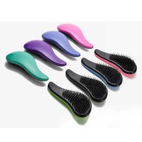 Wholesale Salon Styling Comb - Magic Detangling Handle Tangle Shower Hair Brush Massage Comb Hair Straightening Brush Salon Styling Tamer Tool Includes retail packaging