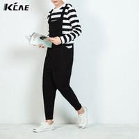 Wholesale Men Casual Work Pants - Wholesale-2016 plus size M-XL jumpsuits rompers men solid korean nice jean fashion clothes pants casual work pants trousers