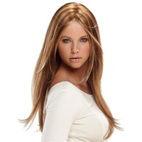 Wholesale Long Curly Hair Bangs - Long Straight Hair Wigs Mddium Bang Wig for Black Women Eurpon Heat Resistant Blonde Mix Beige Synthetic Wig