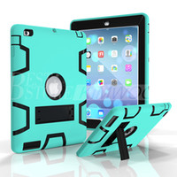 Wholesale Ipad Skin Stickers - Shockproof Defender Case Best Armor Case For iPad 234 iPad Air 5 6 iPad Pro 9.7 Colorful Protector Case With Sticker
