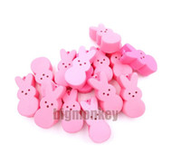 Wholesale Mini Charms Phone - Big monkey NEW 40pcs Lot, 5.5CM PU corful Kawaii Mini Lovely expression of Pink Rabbit Squishy Cell Phone Charm