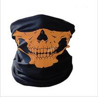 Wholesale half skull ski mask - Skull Half Face Mask Scarf Bandana Bike Motorcycle Scarves Scarf Neck Face Mask Cycling Cosplay Ski Biker Headband