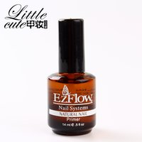 Wholesale Ezflow Base Coat - Wholesale-New 1Pc 14ML Ezflow Natural Nails Primer Nail Art Tool Products Acrylic Base Coat For UV GEL & Acrylic Tips