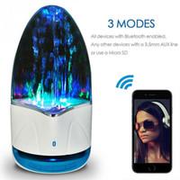 su dansı çeşmesi hoparlörü toptan satış-DHL Müzik Çeşmesi Kablosuz Hoparlör TF tarafından 3.5mm Renkli Işık Bluetooth Ses Amplifikatör LED Su Dans Hoparlör Telefon Bilgisayar için