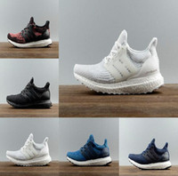 2017 Cheap Ultra Boost 3.0 Triple Running Shoes Homens Mulheres Ultraboost 3 Primeknit Preto Branco Casual Mens Womens Trainers Sneakers Shoes