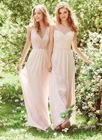 Wholesale Top Best Selling Wedding Dresses - Top Quality A Line Floor Length Chiffon Lace Beach Bridesmaid Dresses Best Selling Chea madrinha vestido de festa Wedding Party Dresses