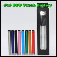 Wholesale Slim Ecig - CE3 Vape pen ecig vaporizer 510 bud touch battery mini slim open buttonless auto batteries for ce3 cartridge atomizer vapes DHL