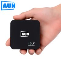 Wholesale Engineering Bag - Wholesale- AUN Projector AKEY Series E3 Portable DLP Android Projector Set in WIFI Bluetooth 3000mAH Battery Free Original Bag Mini Beamer