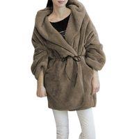 Wholesale Wholesale Soft Fleece Hoodies - Wholesale- Women Winter Soft Fleece Thick Hooded Coat Hoodie Sweater Jacket Cardigan Casual New Year