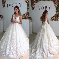 Wholesale Wedding Dresses Sleeve Pregnant - 2017 Berta Lace Cap Sleeves Maternity Wedding Dresses Sheer Neck A Line Pregnant Backless Beach Court Train Plus Size Bridal Gowns BA6429