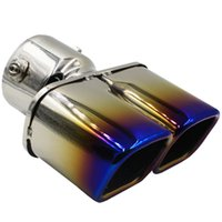 Wholesale Colorful Stainless Steel Dual Exhaust Muffler Pipes Tips for Honda XRV Vezel