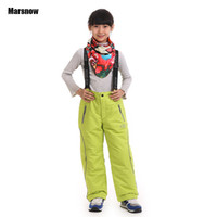 Wholesale Girls Waterproof Windproof Pants - Wholesale- Dropshipping new arrival Thicken boy girl windproof ski 2 layer kids waterproof skiing pants winter ski trousers for children