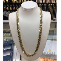 """Wholesale Solid Platinum Necklace - 14k Solid Yellow Gold Miami Cuban Curb Link 26"""" 11.5mm 226 grams chain Necklace"""