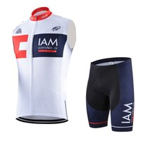 Wholesale iam cycling - Summer cycling sleeveless jersey men IAM pro team bike clothing quickdry tour de france cycling vest mtb bicycle maillot ropa ciclismo B2108