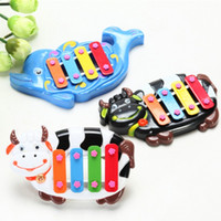 Wholesale Infant baby children cartoon toy piano four tone trade spread creative hot toys
