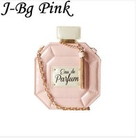 Wholesale Mini Handbag Perfumes - Wholesale-J-Bg Pink Retro Personality Leather Perfume Bottle Chain Mini Clutch Bag 2016 Women Handbag Fashion Party Women Bag Evening Bag